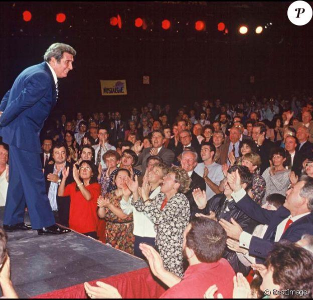 Gilbert Bécaud à l'Olympia, en octobre 1991.