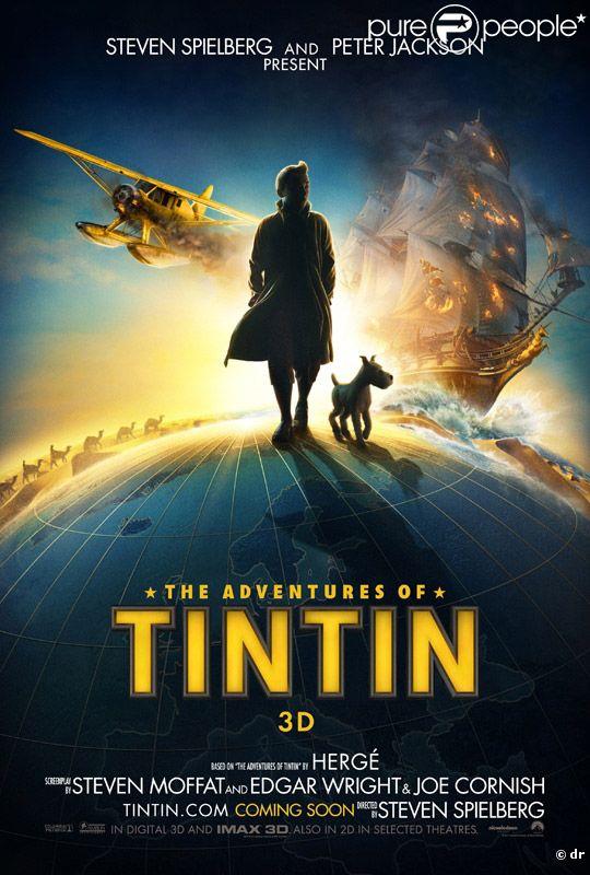L'affiche du film Les Aventures de Tintin : le secret de la Licorne