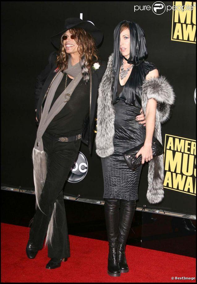 Steven Tyler et Erin Brady à Los Angeles, le 23 novembre 2008.
