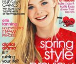 Elle Fanning en  couverture du Teen Vogue