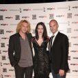 Les héros de la série  Camelot  - Eva Green, entourée de Jamie Campbell Bower et Joseph Fiennes - à Cannes le 4 avril 2011.