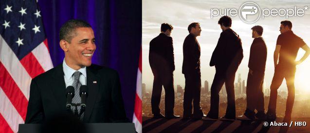 Barack Obama, mars 2012 à Washington / Les héros de la série Entourage.