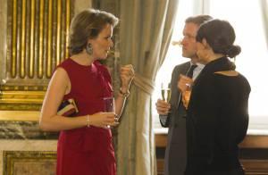 La princesse Mathilde donne des couleurs au Nouvel An belge, en plein marasme