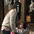 Katie Holmes et sa fille Suri à New York, le samedi 14 janvier 2011.