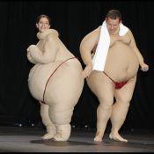 Dany Boon et sa femme Yaël : Deux sumos amoureux en plein fou rire