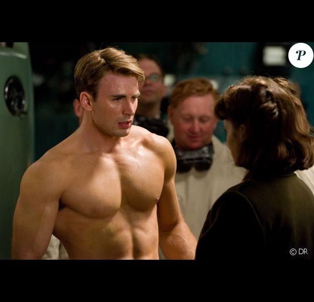 Chris Evans dans Captain America.