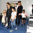 Angelina Jolie et ses enfants à Tokyo en novembre 2011