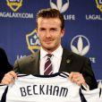 David Beckham le 19 janvier 2012 au Staples Center de Los Angeles