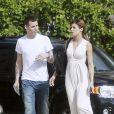 Photos exclusives : Elisabetta Canalis et Steve-O, très in love, le 30 janvier 2012 dans les rues de Los Angeles
