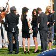 AnnaLynne McCord, Shenae Grimes, Tristan Wilds, Matt Lander et Arielle Kibbel sur le tournage de  90210 , à Los Angeles, le 1er février 2011.