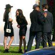 AnnaLynne McCord, Shenae Grimes, Tristan Wilds et Matt Lander sur le tournage de  90210 , à Los Angeles, le 1er février 2011.