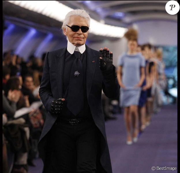 Karl Lagerfeld à Paris, le 24 janvier 2012.