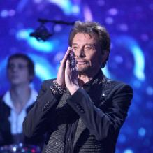 Johnny Hallyday en concert au NRJ Music Awards le 27 janvier 2012<br />