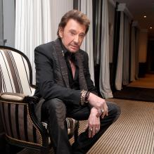 Photo exclusive : Johnny Hallyday le 27 janvier 2012 à Cannes<br />