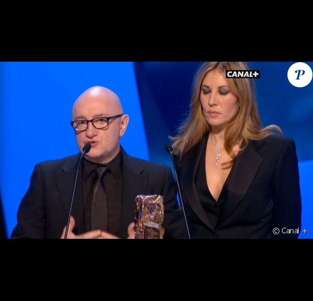 Michel Blanc recevant le César du meilleur second rôle pour L'Exercice de l'Etat