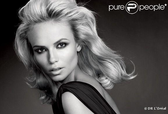 Natasha Poly sur le visuel officiel L'Oréal Paris