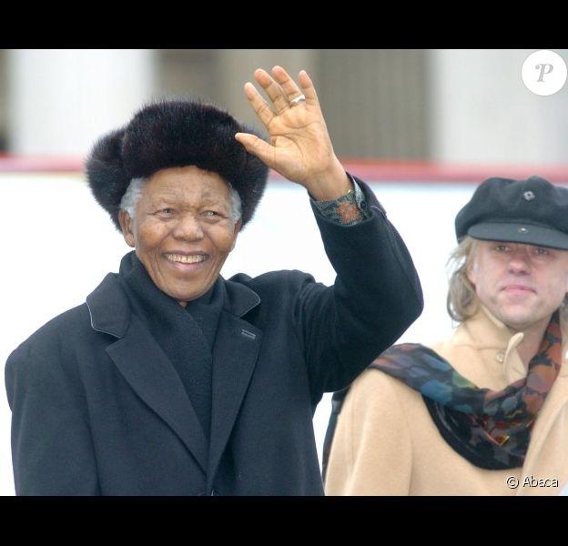 Nelson Mandela le 3 février 2005 à Londres