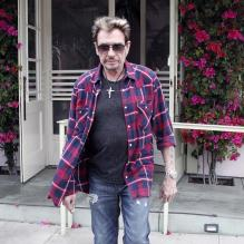 Johnny Hallyday à Los Angeles, le 7 février 2012. <br />
