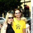Jennie Garth et Peter Facinelli, en 2002, à Los Angeles.