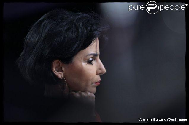 Rachida Dati sur le plateau de la chaîne iTélé le 13 mars 2012
