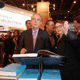 Frédéric Mitterrand inaugure le Salon du livre de Paris, le 16 mars 2012.