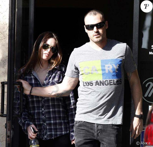 Megan Fox et Brian Austin Green déjeunent à Los Angeles, le 20 mars 2012.