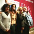 Lola Dewaere avec l'équipe du film Mince alors ! le 2 février 2012 à Brides-les-Bains
