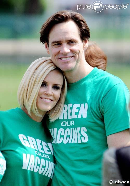 Jim Carrey et Jenny McCarthy à une marche écolo, le 4/06/08