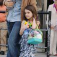 Katie Holmes a emmené sa fille Suri au complexe Chelsea Piers, à New York, le 23 mars 2012
