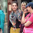 Ashley Greene, très lookée sur le tournage de la série  Americana , le vendredi 23 mars à New York.