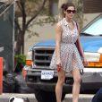 Ashley Greene, sur le tournage de la série  Americana , le vendredi 23 mars à New York.