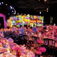 Le Bal de la Rose 2012, sous l'impulsion de la princesse Caroline de Monaco, présidente de la Fondation Princesse Grace, a mis la Salle des Etoiles du Sporting Club de Monaco à la mode folle, colorée et rock du Londres des années 1960, Swinging London, le 24 mars 2012.