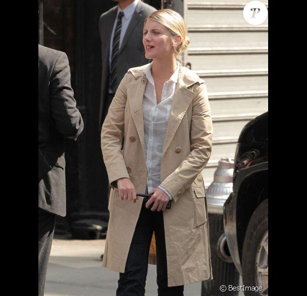 Mélanie Laurent sur le tournage de Now You See Me à New York, le 24 mars 2012.