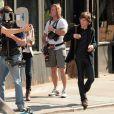 Jesse Eisenberg sur le tournage de  Now You See Me  à New York, le 23 mars 2012.