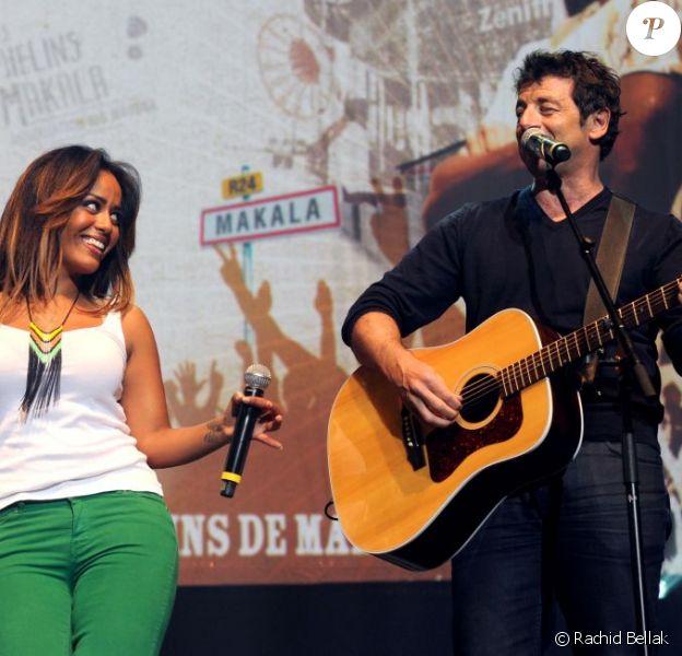 Amel Bent et Patrick Bruel lors de l'événement Une Nuit à Makala, au Zénith de Lille le lundi 26 mars 2012