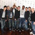 L'équipe de foot de Lille lors de l'événement Une Nuit à Makala, au Zénith de Lille le lundi 26 mars 2012