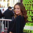 Alyssa Milano, enceinte, en juin 2011, pour la première de Comment tuer son boss ?