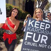 Kim Kardashian : Fan de fourrure, elle fait face à des manifestantes déterminées