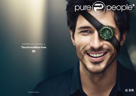 Andres Velencoso pose pour TechnoMarine