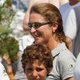 Elena d'Espagne et son fils Felipe en août 2011 à Majorque.
