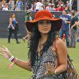 Vanessa Hudgens en mode hippie lors du premier jour du Festival de Coachella. Indio, le 13 avril 2012.