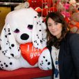 Daniela Lumbroso, marraine de la Foire du Trône, inaugure une place à son nom, le 13 avril 2012 à Paris