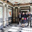 La reine Margrethe et le prince consort Henrik inaugurait la salle des marbres du château de Rosenborg après rénovation, le 16 avril 2012, jour du 72e anniversaire de la monarque danoise.