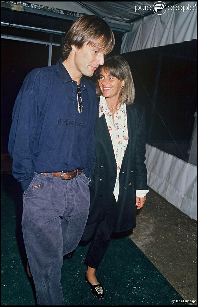 Dominique Cantien en juin 1990, alors en couple avec Nicolas Hulot.
