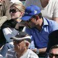 Athina Onassis et son mari Doda (Alvaro de Miranda Neto) lors de la demi-finale Djokovic-Berdych au Rolex Masters 1000 de Monte-Carlo, à Roquebrune-Cap-Martin, le 21 avril 2012.