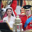 Le prince William et Kate Middleton lors de leur mariage, le 29 avril 2011