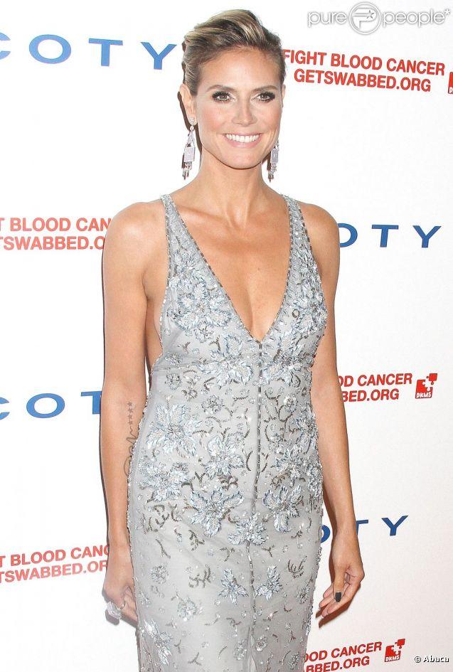 Heidi Klum lors d'un gala de charité organisé au restaurant new-yorkais Cipriani. Le 26 avril 2012