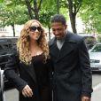 Mariah Carey et Nick Cannon en plein shopping, à Paris, le 27 avril 2012.