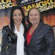 Jean-Marc Minéo et sa femme à l'avant-première de  Bangkok Renaisance  à Paris, le 10 mai 2012.