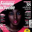 Inna Modja en couverture du numéro spécial Beauté Noire de F emme Actuelle , en kiosques jusqu'au 9 juillet 2012.